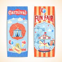 Amusement entertainment carnival theme park fun fair vintage vertical banners isolated vector illustration 60016028940| 写真素材・ストックフォト・画像・イラスト素材|アマナイメージズ
