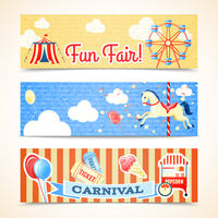 Vintage retro carnival fun fair vertical banners isolated vector illustration 60016028941| 写真素材・ストックフォト・画像・イラスト素材|アマナイメージズ