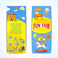 Amusement entertainment carnival fun fair vertical banners advertising leaflets isolated vector illustration 60016028942| 写真素材・ストックフォト・画像・イラスト素材|アマナイメージズ
