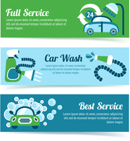 Car wash auto cleaner washer shower service banners set isolated vector illustration 60016029039| 写真素材・ストックフォト・画像・イラスト素材|アマナイメージズ