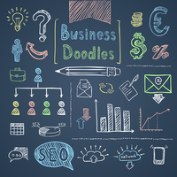 Doodle business set of finance symbols chart and diagrams isolated vector illustration 60016029142| 写真素材・ストックフォト・画像・イラスト素材|アマナイメージズ