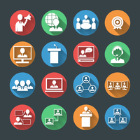 Business people meeting at office online conference presentation icons set isolated vector illustration 60016029150| 写真素材・ストックフォト・画像・イラスト素材|アマナイメージズ