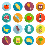Online supermarket foods flat icons set of meat fish fruits and vegetables isolated vector illustration 60016029164| 写真素材・ストックフォト・画像・イラスト素材|アマナイメージズ