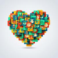 Decorative baby love heart concept with child care icons vector illustration 60016029217| 写真素材・ストックフォト・画像・イラスト素材|アマナイメージズ
