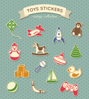 Kid children toys stickers vintage collection isolated vector illustration 60016029223| 写真素材・ストックフォト・画像・イラスト素材|アマナイメージズ
