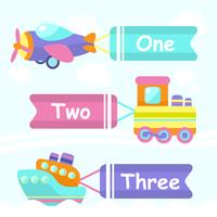 Toy transport cartoon decorative banners set with train boat plane isolated vector illustration 60016029232| 写真素材・ストックフォト・画像・イラスト素材|アマナイメージズ