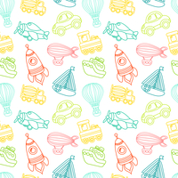 Toy transport outline seamless pattern with car airplane space rocket boat vector illustration 60016029234| 写真素材・ストックフォト・画像・イラスト素材|アマナイメージズ