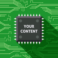 Your content microchip computer electronics cpu flat background vector illustration 60016029252| 写真素材・ストックフォト・画像・イラスト素材|アマナイメージズ