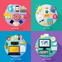 Business types concept startup office work freelance icons set isolated vector illustration 60016029255| 写真素材・ストックフォト・画像・イラスト素材|アマナイメージズ