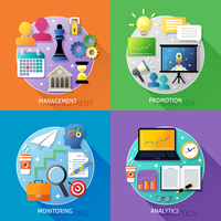 Business steps concept management promotion monitoring analytics icons set isolated vector illustration 60016029257| 写真素材・ストックフォト・画像・イラスト素材|アマナイメージズ