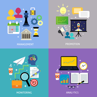 Business steps departments concept management promotion monitoring analytics flat icons set isolated vector illustration 60016029258| 写真素材・ストックフォト・画像・イラスト素材|アマナイメージズ