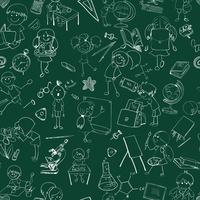Decorative school children studying singing drawing on chalkboard education accessories background seamless doodle vector illust 60016029260| 写真素材・ストックフォト・画像・イラスト素材|アマナイメージズ