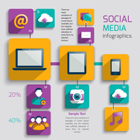 Social media icons infographics set with internet network elements isolated vector illustration 60016029352| 写真素材・ストックフォト・画像・イラスト素材|アマナイメージズ