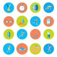 Running race sport activity round buttons icons set isolated vector illustration 60016029385| 写真素材・ストックフォト・画像・イラスト素材|アマナイメージズ