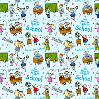 Kids drawing and writing formulas on chalkboard with school accessories background seamless doodle sketch pattern vector illustr 60016029426| 写真素材・ストックフォト・画像・イラスト素材|アマナイメージズ