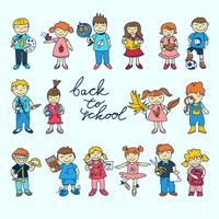 Set of carton doodle cute study school education kids in color vector illustration 60016029436| 写真素材・ストックフォト・画像・イラスト素材|アマナイメージズ