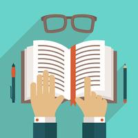 Book flat icon with hand reading person concept vector illustration 60016029451| 写真素材・ストックフォト・画像・イラスト素材|アマナイメージズ