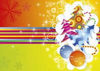 christmas card. vector  60016029507| 写真素材・ストックフォト・画像・イラスト素材|アマナイメージズ