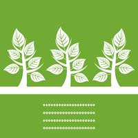 Three trees2. Three trees on a green background. A vector illustration 60016029582  写真素材・ストックフォト・画像・イラスト素材 アマナイメージズ