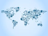 map made of transport. A vector illustration 60016029585| 写真素材・ストックフォト・画像・イラスト素材|アマナイメージズ