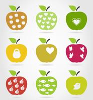 Set of icons of apples. A vector illustration 60016029629  写真素材・ストックフォト・画像・イラスト素材 アマナイメージズ