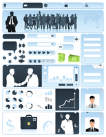 Business a site. Business a site in dark blue tones. A vector illustration 60016029644| 写真素材・ストックフォト・画像・イラスト素材|アマナイメージズ