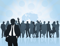 businessman5. Meeting of businessmen of all world. A vector illustration 60016029649| 写真素材・ストックフォト・画像・イラスト素材|アマナイメージズ