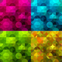 Abstract colorful  geometric background. Vector illustration