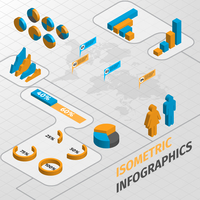 Abstract isometric business infographics design elements charts and graphs vector illustration 60016029690| 写真素材・ストックフォト・画像・イラスト素材|アマナイメージズ