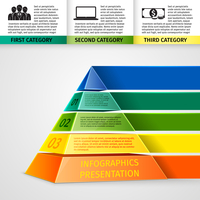 Abstract 3d pyramid infographics design template with title categories and progress options vector illustration 60016029721| 写真素材・ストックフォト・画像・イラスト素材|アマナイメージズ