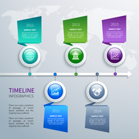 Abstract timeline infographics design template with time arrow round buttons and business icons vector illustration 60016029755| 写真素材・ストックフォト・画像・イラスト素材|アマナイメージズ
