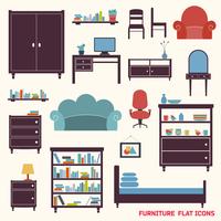 Furniture flat decorative icons set of cupboard armchair closet isolated vector illustration 60016029775| 写真素材・ストックフォト・画像・イラスト素材|アマナイメージズ