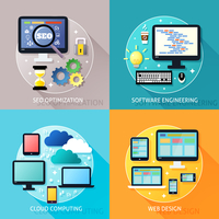 Business process concept of seo optimization software engineering cloud computing and web design icons set vector illustration 60016029814| 写真素材・ストックフォト・画像・イラスト素材|アマナイメージズ