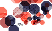 Bright red and blue textured geometric shapes isolated on white - modern design template 60016030353| 写真素材・ストックフォト・画像・イラスト素材|アマナイメージズ