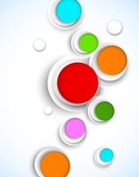 Abstract background with colorful circles 60016033034| 写真素材・ストックフォト・画像・イラスト素材|アマナイメージズ