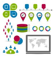 Illustration set infographic elements for social statistics design - vector 60016033263| 写真素材・ストックフォト・画像・イラスト素材|アマナイメージズ