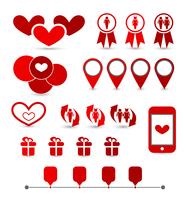 Illustration set infographic elements of valentine presentation - vector 60016033293| 写真素材・ストックフォト・画像・イラスト素材|アマナイメージズ
