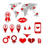 Illustration Valentine's Day infographics and design elements - vector 60016033295| 写真素材・ストックフォト・画像・イラスト素材|アマナイメージズ