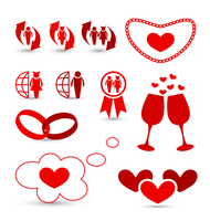 Illustration Valentine's Day infographics and wedding design elements - vector 60016033296| 写真素材・ストックフォト・画像・イラスト素材|アマナイメージズ