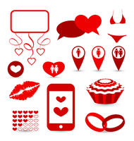Illustration set infographic elements for valentine or wedding presentation - vector 60016033297| 写真素材・ストックフォト・画像・イラスト素材|アマナイメージズ