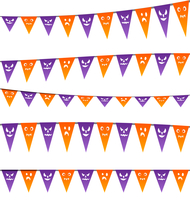 Illustration Halloween hanging streamers flags for your party - vector 60016033315| 写真素材・ストックフォト・画像・イラスト素材|アマナイメージズ