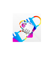 Vector lock modern colorful design