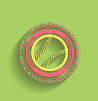 Vector tennis ball icon flat modern icon