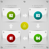Options steps modern vector design template