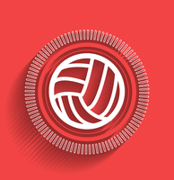 Vector volleyball icon flat modern design