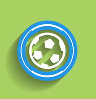 Vector soccer ball icon flat modern icon