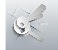 Vector 3d paper keys modern design 60016033726| 写真素材・ストックフォト・画像・イラスト素材|アマナイメージズ