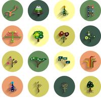 Flat eco tree infographic icon design templates 60016034400| 写真素材・ストックフォト・画像・イラスト素材|アマナイメージズ
