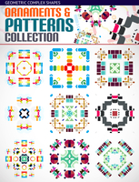 Abstract complex geometric patterns set