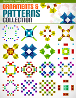 Abstract geometric square patterns shapes set